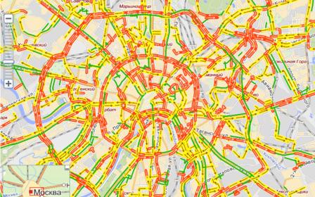 Карта пробок в Москве