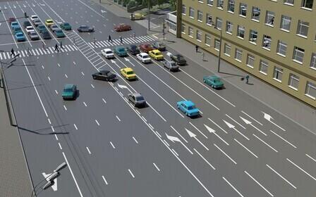 Перестроение на пешеходном переходе