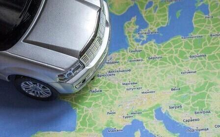 автомобиль на карте мира
