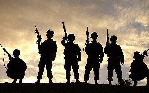 Солдаты в тени