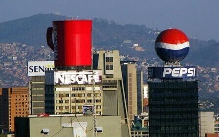 Размещение рекламы на здании