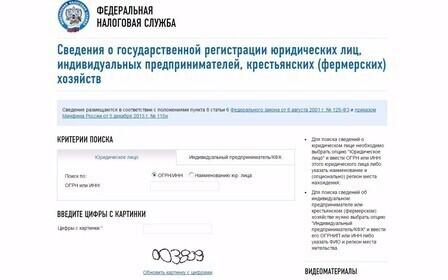 Сервис налог ру официальный сайт. Получение информации об организации.